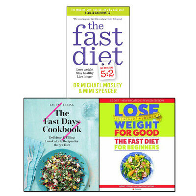 Fast Diet Collection 3 Books set Pack Fast Days Cookbook, Fast Diet Lose Weight