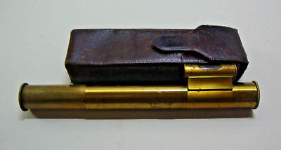Antique cased pocket level made by Elliott brothers opticians 44 Strand London
