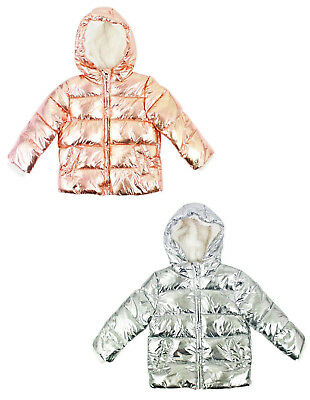 Baby Girls Coat Padded Fleece Lined Ex Uk Store Jacket 9-36M Brand New