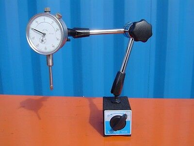 Universal Swivel Arm Magnetic Base & 0-10mm Dial Indicator 60kgs Force