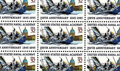 1995 - U.S. NAVAL ACADEMY - #3001 Full Mint -MNH- Sheet of 20 Postage Stamps