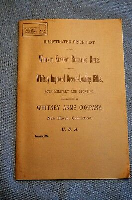 Illustrated Price List of the Whitney Kennedy Repeating Rifle and Whitney...