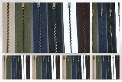 Pocket Brass Metal Closed End #5 Zips trouser zippers BR5CE bag