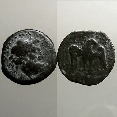 AKRAGAS SICILY BRONZE AE23___Sacked by the Carthaginians___ZEUS & EAGLE
