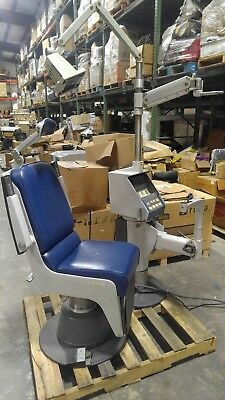 American Optical 14200 Ophthalmic Optometry Exam Chair w/ 14207 Stand & Light