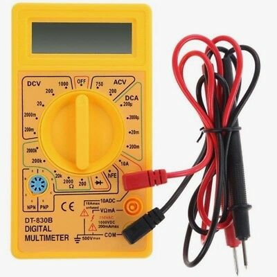 Electrical multimeter tester test meter  AC DC Continuity resistance ohms car