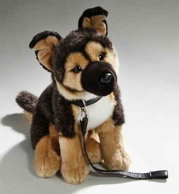 New Plush Cuddly Critters Sitting German Shepherd With Lead Soft Toy Puppy Teddy
