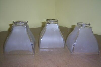 Vintage-Mission-Frosted Glass Lampshades-3 Pcs.