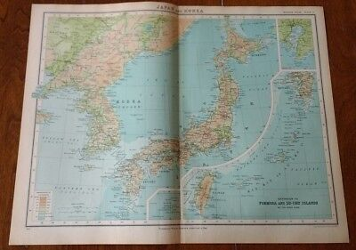 1923 Map Of Japan And Korea Protestant Mission Stations By John Bartholomew