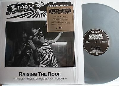 STORM QUEEN - raising the roof,HR-RECORDS,SILVER VINYL,LIMITED,M/M