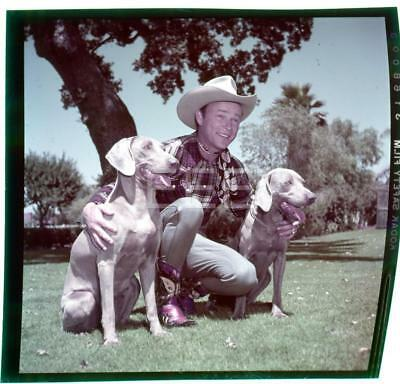 1953 Roy Rogers Candid Western Vintage John Florea Old Photo Transparency 482B