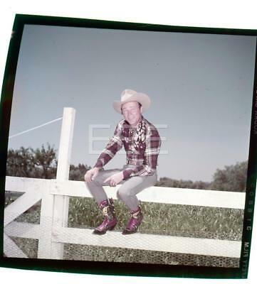 1953 Roy Rogers Candid Western Vintage John Florea Old Photo Transparency 481B