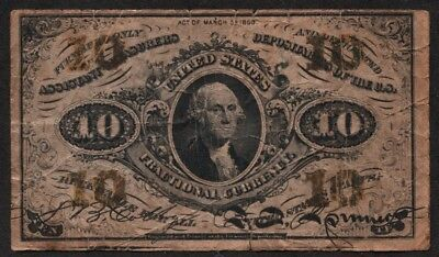 Fractional Currency 10c note 1864 issue greenback