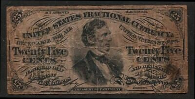 Fractional Currency 25c note 1864 issue greenback