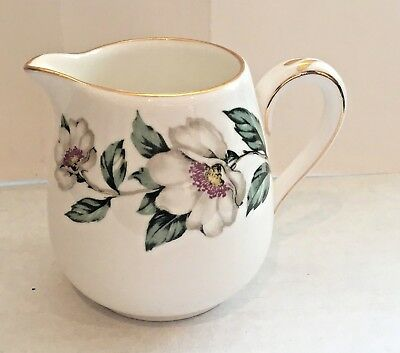 Crown Staffordshire Christmas Roses Fine Bone China Cream Milk Jug England