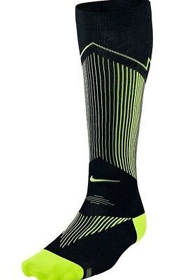 Nike Elite Graduated Compression Running Socks Unisex  Uk 3.5 - 5 Eu 36-38 Black
