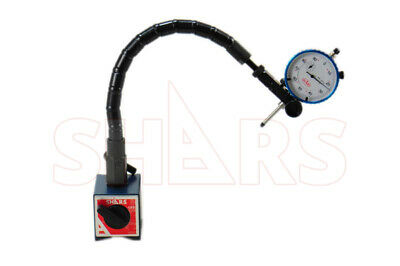 "Shars Flexible Magnetic Base For Dial Test Indicator + 1"" Dial Indicator New"