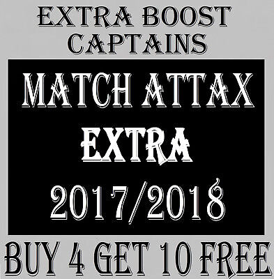 Match Attax EXTRA 2017/18 EXTRA BOOST / CAPTAIN cards