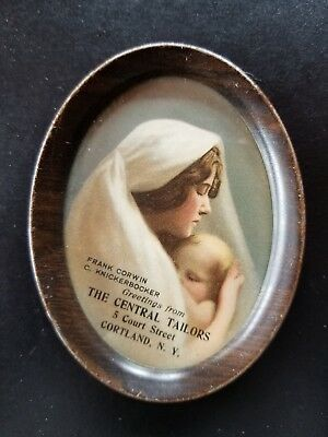 Central Tailors Cortland Ny Tray Woman And Child, Colorful By Knickerbocker