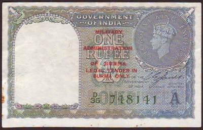 BURMA  Military Administration  1 Rupee  ND (1945)