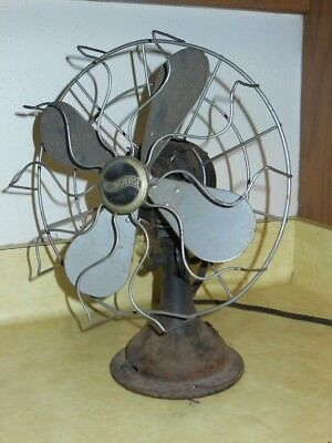 Antique 1920sWESTINGHOUSE FAN Wall Mount or Desk/Table 10 3/4 Inch oscillating