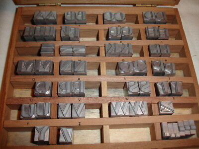 Kingsley Stamp Machine 36 Point BOUL MICH Initial Type Set Caps