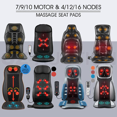 Massaging Back Massage Seat Pad Home Car Massager Chair Cushion 7/9/10 Motor