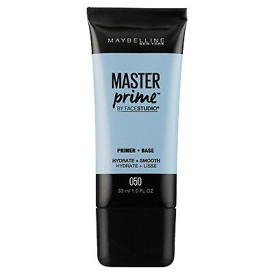 MAYBELLINE Master Prime by Face Studio Hydrate + Smooth 050 primer base NEW