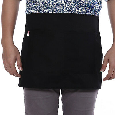 New Chef Cafe Bistro Waitress Cafe Bar Pub Waiter Short Half Waist Apron Pocket