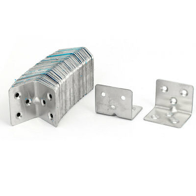 31mmx31mmx38mm Stainless Steel 6 Holes Right Angle Brackets Support 50pcs