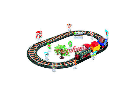 Railway Train Toy Rail Car Boxed Slot car Set Latest Livery 55cm x 34cm 6702