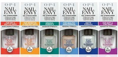 OPI Nail Envy nail strengthener polish in clear or coloured - 15ml BOXED