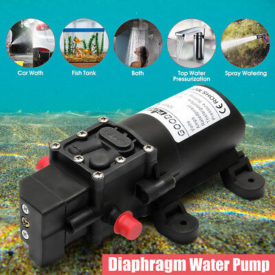 12V 130PSI 6L/Min High Pressure Diaphragm Water Pump For RV Caravan Boat 70W New