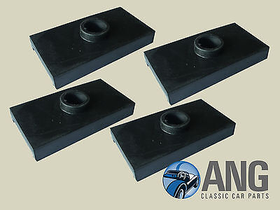 MG TD, MG TF '50-'55 REAR AXLE LEAF SPRING RUBBER PADS x 4 (ACA5138)
