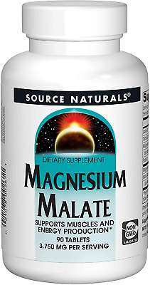 Source Naturals - Magnesium Malate, 1250mg x 90 Tablets