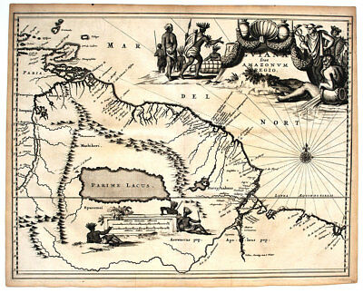1671 Northern South America (Guyana, Suriname, Fr Guinea) Montanus Antique Map