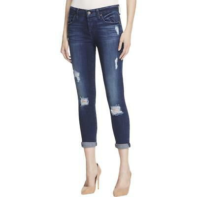7 For All Mankind 7706 Womens Josefina Distressed Whisker Wash Skinny Jeans BHFO