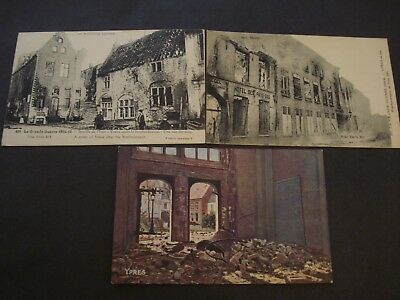 Lot 3 Cp Wwi 1914-1918 Belgique Belgie Ypres