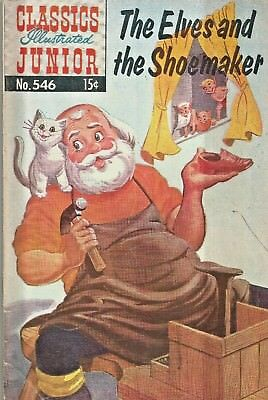 Classics Illustrated Junior #546  Elves And Shoemaker  Hrn 556 Silver-Age 1956