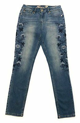 NEW Seven7 Women's Floral Embroidered Skinny Jeans - Latimer - Size:14