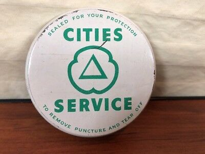 Vintage 1940's Cities Service Gas & Oil Collectible Advertising Oil Bottle Lid