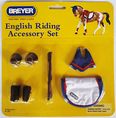 BREYER Traditional Series 1:9 scale ENGLISH RIDING ACCESSORY SET 1383 *sealed