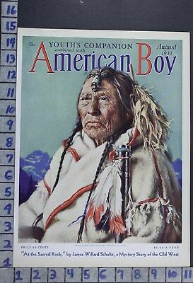 1933 Ethnic Indian Native American Tribe Chief Illus Mabel Harris Cover Cov421