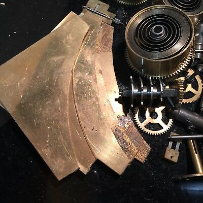 Clock Brass And Clock Spare Parts, barrels, mainsprings and other useful bits