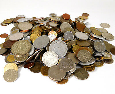 5 Pounds Mixed Metal World Coin Lot - 19th, 20th & 21st Century Coins