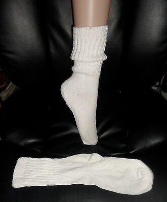 Vintage Loose Knit Slouch Socks with Nobby Soles Size 7-9 NEW -OS Factory irrreg