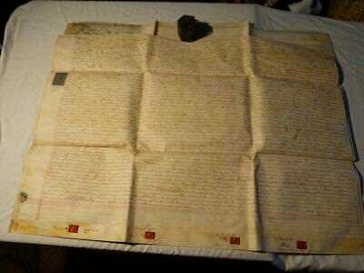 1765 Vellum Document LITTLEFIELD Parish WHITCHURCH 2 Sheets Manuscript #A54