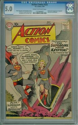 Action Comics #252 - CGC Graded 5.0 - 1st Appearance Of Supergirl