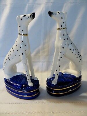 FITZ & FLOYD Porcelain DALMATION DOGS Staffordshire Style Figurines Bookends
