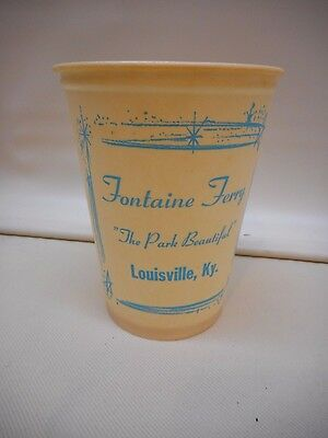 OLD  Fontaine Ferry Park Advertising CUP Marked Louisville KY Amusement